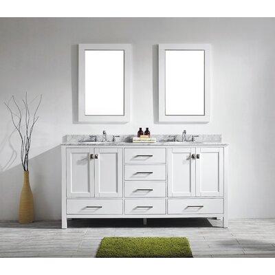 Aberdeen 72 Double Bathroom Vanity Set Base Finish: White