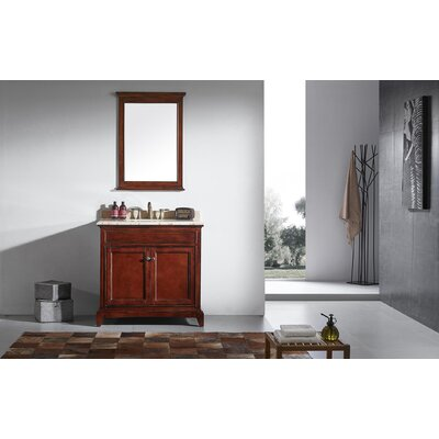 Elite Stamford� 36 Single Bathroom Vanity Set Base Finish: Brown