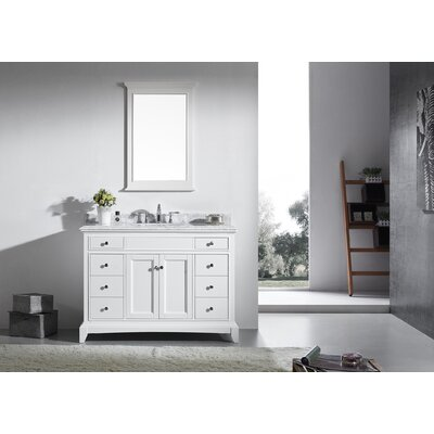 Elite Stamford� 48 Single Bathroom Vanity Set Base Finish: White