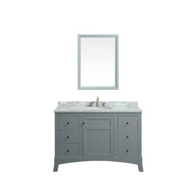 Piccirillo 49.5 Single Bathroom Vanity Set Base Finish: Gray