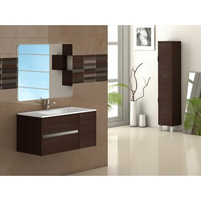 Aries 39 Single Bathroom Vanity Set Base Finish: Wenge