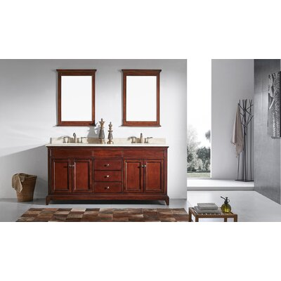 Elite Stamford� 60 Double Bathroom Vanity Set Base Finish: Brown