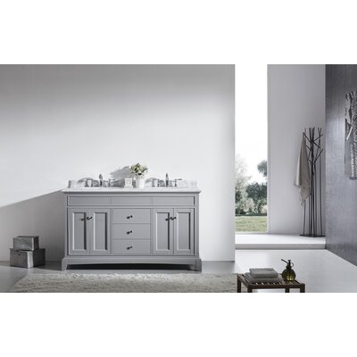 Elite Stamford� 60 Double Bathroom Vanity Set Base Finish: Gray