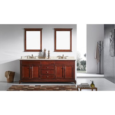 Elite Stamford 72 Double Bathroom Vanity Set Base Finish: Brown