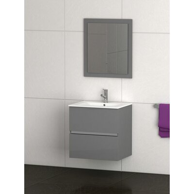Ikaro 24 Single Bathroom Vanity Set Base Finish: Gray