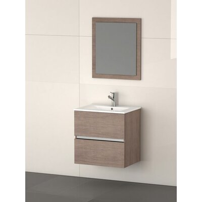 Ikaro 24 Single Bathroom Vanity Set Base Finish: Medium Oak