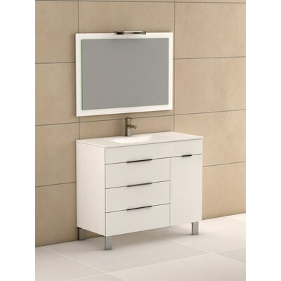 Geminis� 39 Single Bathroom Vanity Set Base Finish: White