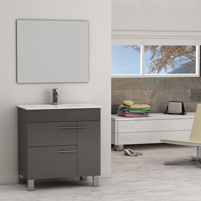 Cup� 31.5 Single Bathroom Vanity Set Base Finish: Gray