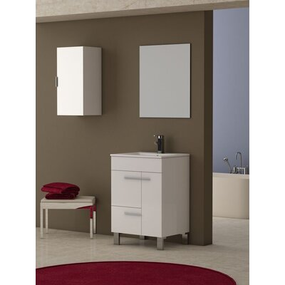 "Cup 24"" Single Bathroom Vanity Set EVVN521-24WH"
