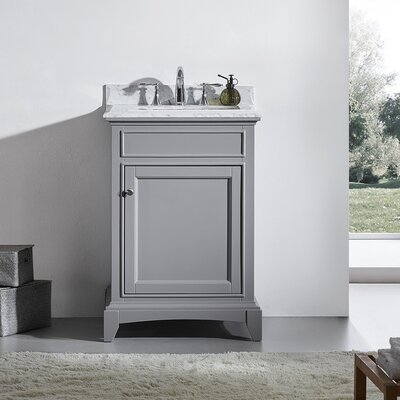 Elite Stamford 24 Single Bathroom Vanity Set Base Finish: Gray