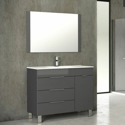 Geminis� 39 Single Bathroom Vanity Set Base Finish: Gray