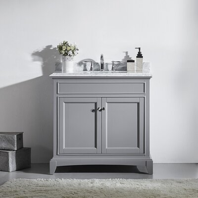 Elite Stamford 36 Single Bathroom Vanity Set Base Finish: Gray
