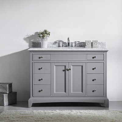 Elite Stamford 48 Single Bathroom Vanity Set Base Finish: Gray