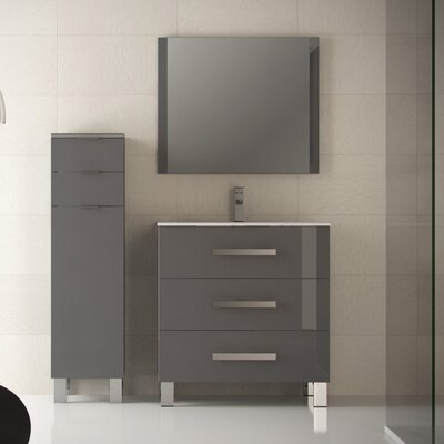 Libra 31.5 Single Bathroom Vanity Set Base Finish: Gray