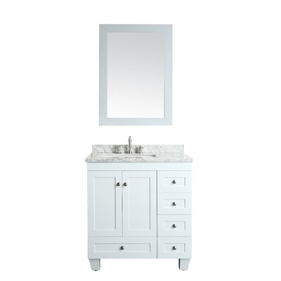 Lauder 31 Single Bathroom Vanity Set Base Finish: White