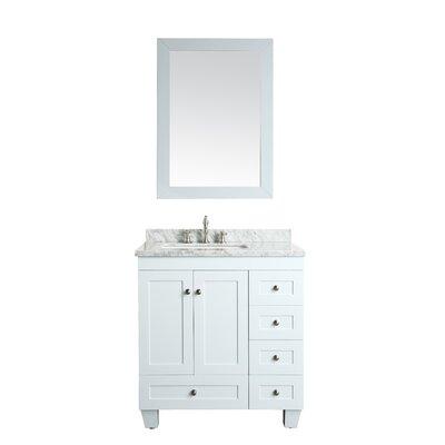 Lauder 31 Single Bathroom Vanity Set Base Finish: White