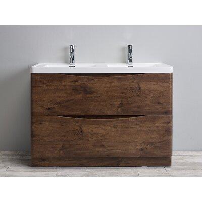 Smile 48 Double Bathroom Vanity Set Base Finish: Rosewood