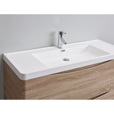 Smile 48 Single Bathroom Vanity Set Base Finish: White Oak