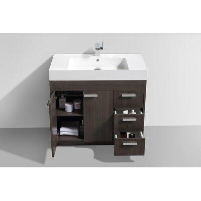 Lugano 36 Single Bathroom Vanity Set Base Finish: Gray Oak