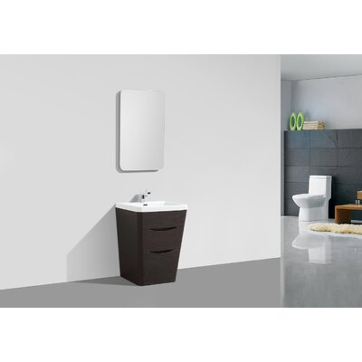 Victoria 25 Single Bathroom Vanity Set Base Finish: Chestnut