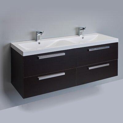 Surf 57 Double Bathroom Vanity Set Base Finish: Wenge