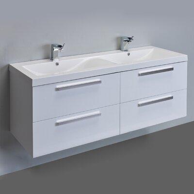 Surf 57 Double Bathroom Vanity Set Base Finish: White