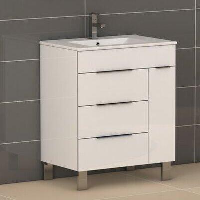 Geminis� 28 Single Bathroom Vanity Set Base Finish: White