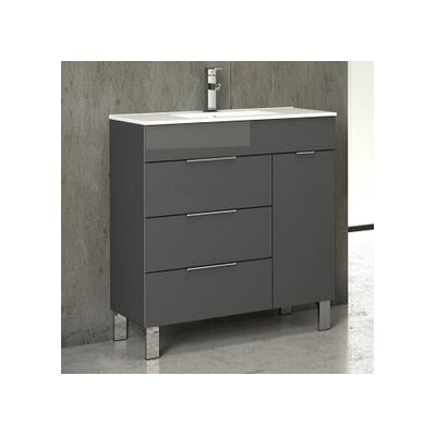 Geminis� 28 Single Bathroom Vanity Set Base Finish: Gray