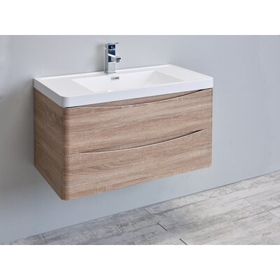 Blondene 36 Single Bathroom Vanity Set Base Finish: White Oak