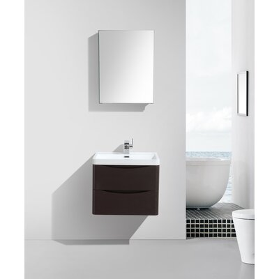 Blondene 24 Single Bathroom Vanity Set Base Finish: Chest-nut
