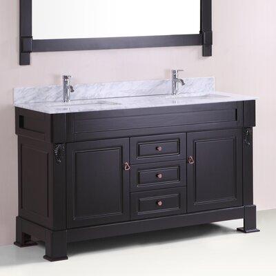Alfredo 60 Double Bathroom Vanity Set