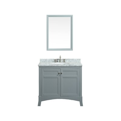 Piccirillo 36 Single Bathroom Vanity Set Base Finish: Grey