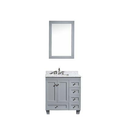 Lauder 31 Single Bathroom Vanity Set Base Finish: Grey