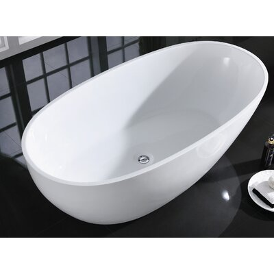 Sarah 59.25 x 29.25 Freestanding Bathtub