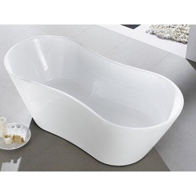 "Smile 66"" x 30'' Freestanding Soaking Bathtub EVTB6219-67WH"