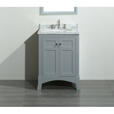 Piccirillo 24 Single Bathroom Vanity Set Base Finish: Grey