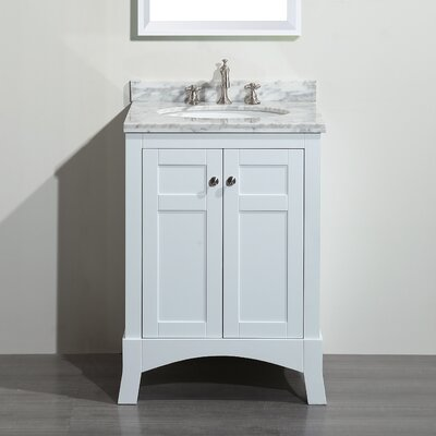 Piccirillo 24 Single Bathroom Vanity Set Base Finish: White