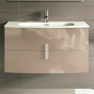 Cali 39 Single Bathroom Vanity Set Base Finish: Brown