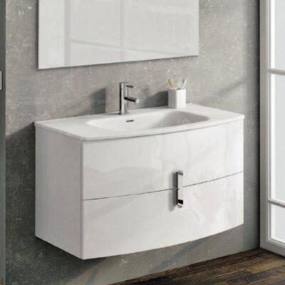 Cali 39 Single Bathroom Vanity Set Base Finish: White