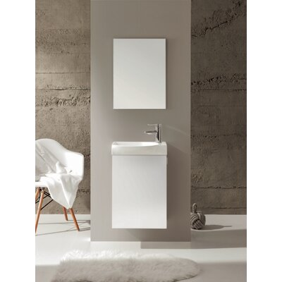Tiny 18 Single Bathroom Vanity Set Base Finish: White
