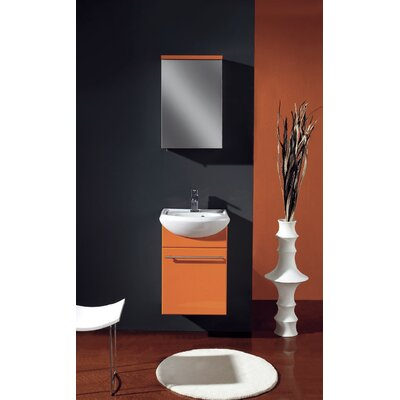Venti 18 Single Bathroom Vanity Set Base Finish: Orange