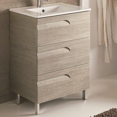 Oberlin 24 Single Bathroom Vanity Set Base Finish: Maple