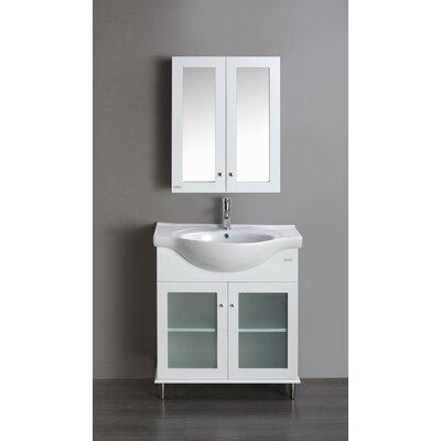 Tux 24 Single Bathroom Vanity Set Base Finish: White