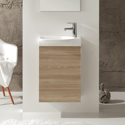 Tiny 18 Single Bathroom Vanity Set Base Finish: Walnut