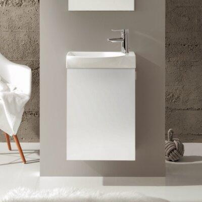 Tiny 18 Single Bathroom Vanity Set Base Finish: White
