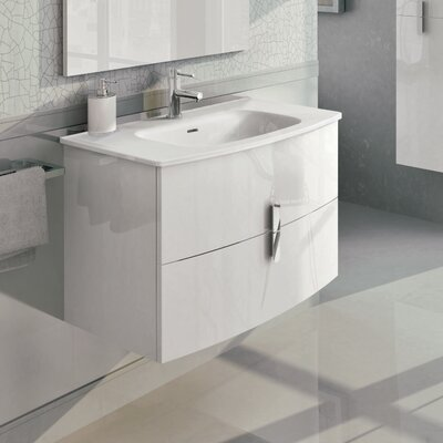 Cali 31 Single Bathroom Vanity Set Base Finish: White