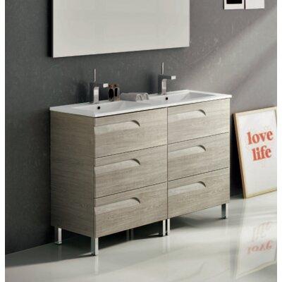 Oberlin 48 Double Bathroom Vanity Set Base Finish: Maple