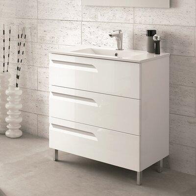 Oberlin 24 Single Bathroom Vanity Set Base Finish: White