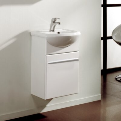Venti 18 Single Bathroom Vanity Set Base Finish: White