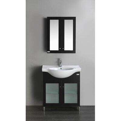 Tux 24 Single Bathroom Vanity Set Base Finish: Espresso